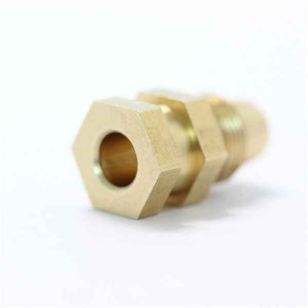 Manufacturing brass parts special machine parts with a small hole