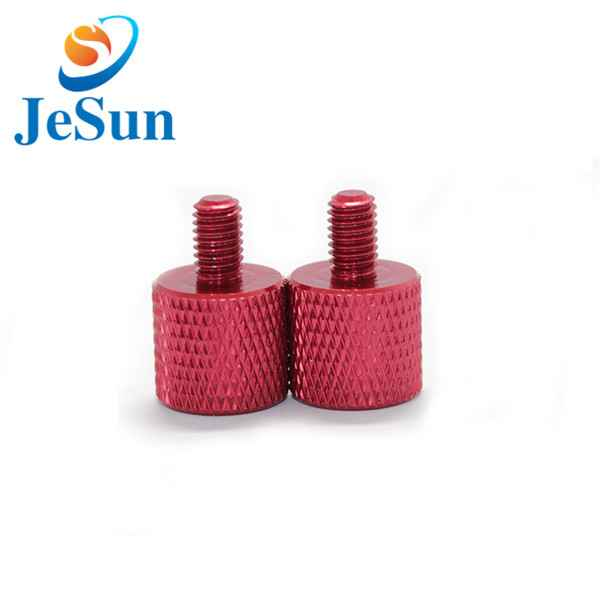 Red anodized thumb screws aluminum screws531