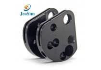 Custom CNC Parts Aluminum Rock Pulley Black Anodized machined parts