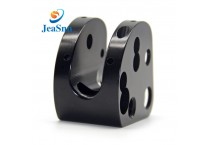 China Custom CNC Parts Black Anodized machined parts