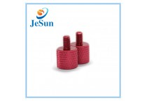 Custom Various Type Red Anodized Aluminum Knurled Thumb Screws