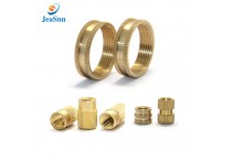 Injection molding brass insert nuts threaded brass knurled nut