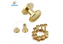Metric sex bolt copper binding post head screw male to female brass chicago screws for leather