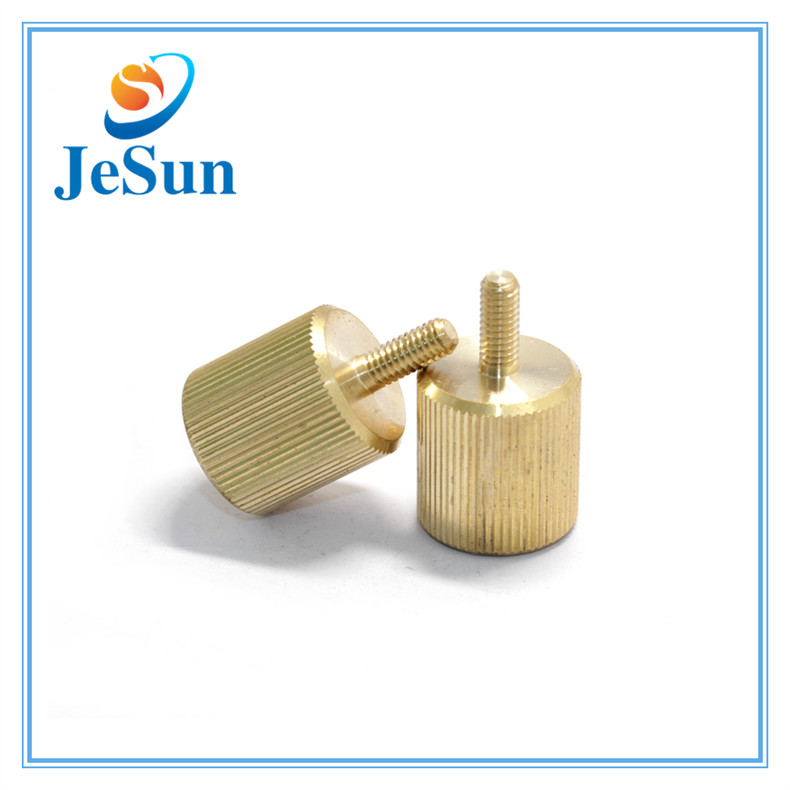 Fastener Manufacturer Mould-in Straight Knurling Brass Screws in Swiss