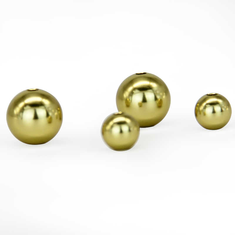 Aluminum bright round balls beads gold ball metal beads with anodizing
