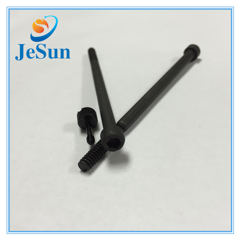 Black Carbon Steel Inner Hex Screws Long Screws in UAE