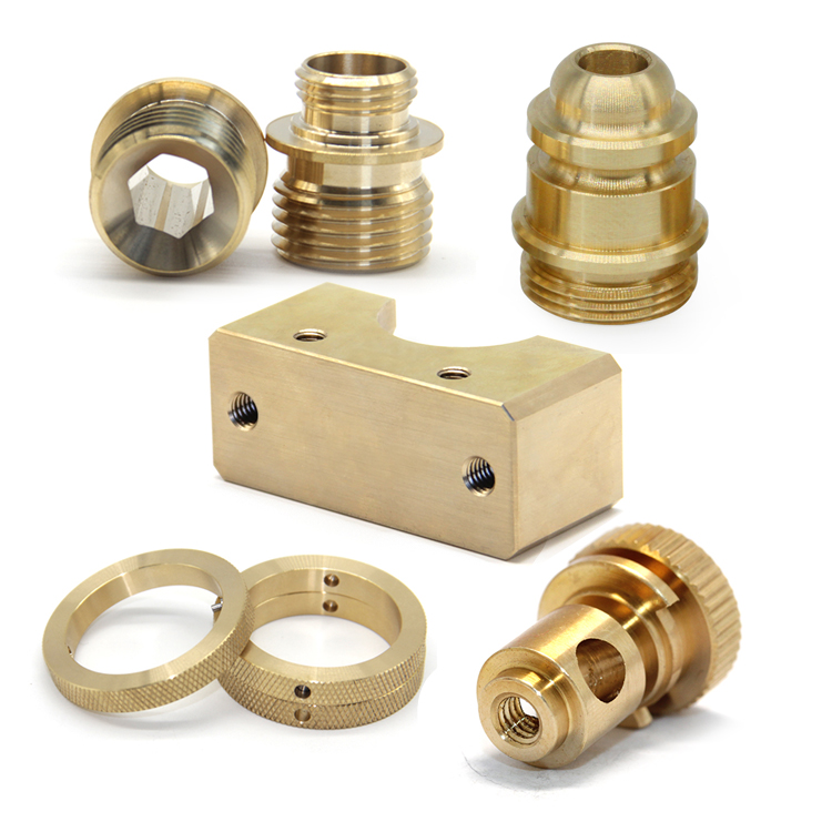CNC machining company custom machined brass hardware inserts precision brass turned parts