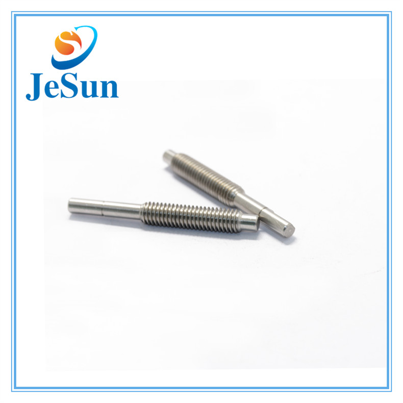 CNC Turned Stainless Steel Thread Shafts in Swiss