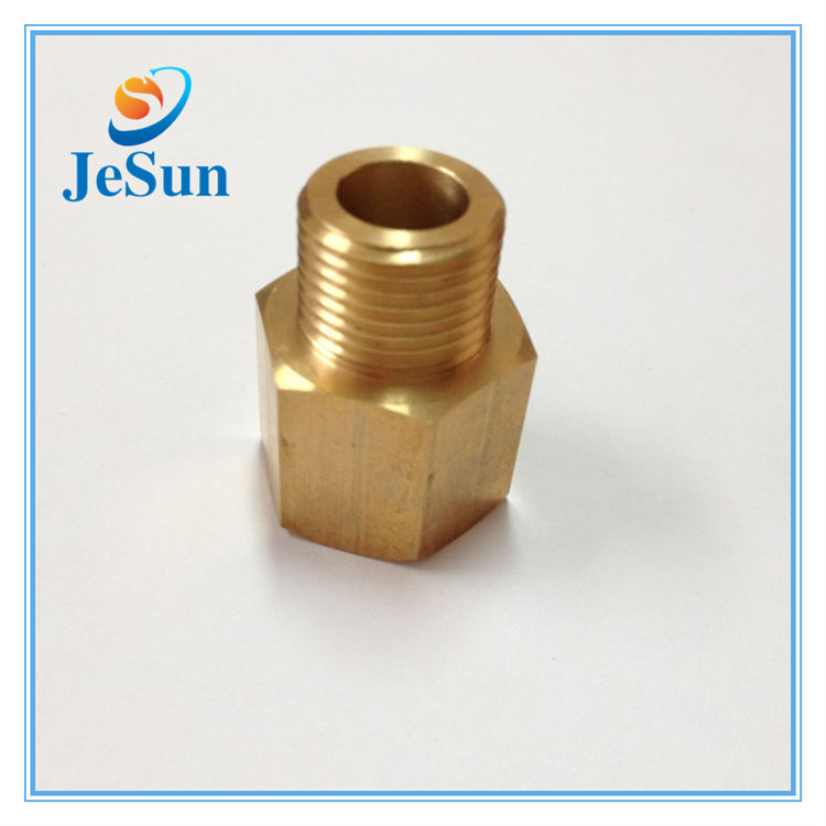 custom auto lathe parts brass wheel coupling hexagon insert nut in Hungary
