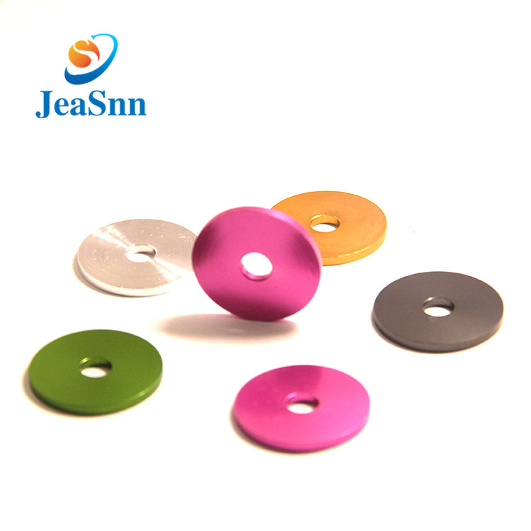 Custom Colored Metal Flat Washers Anodized Aluminum Washers