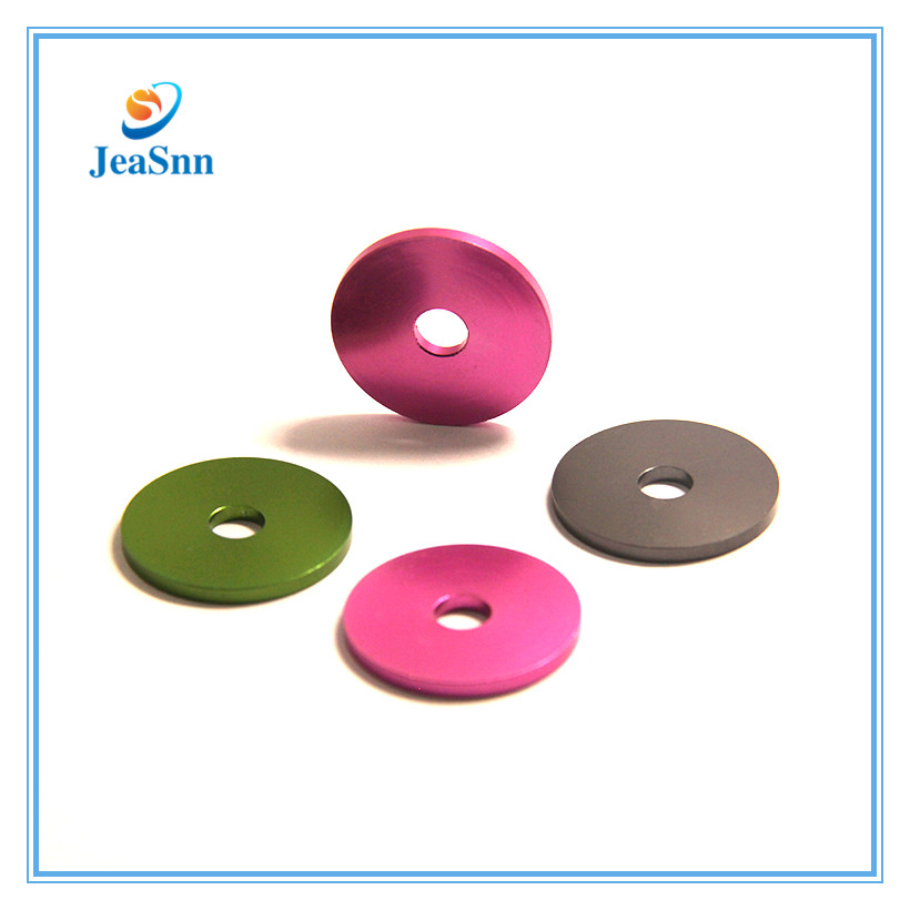 Custom colored metal flat washersanodized aluminum washers