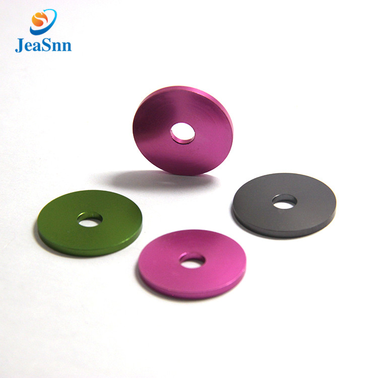 Custom round metal countersunk anodized aluminum flat washers