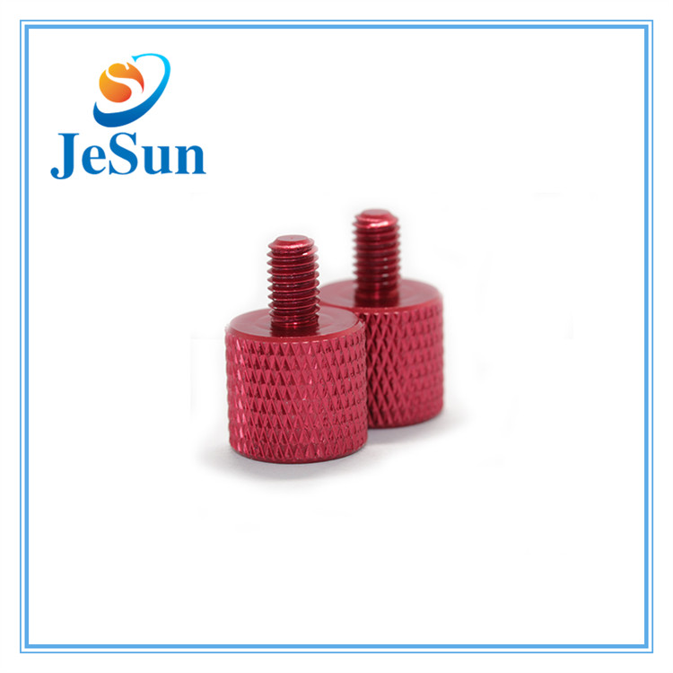 Custom Various Type Red Anodized Aluminum Knurled Thumb Screws in Bandung