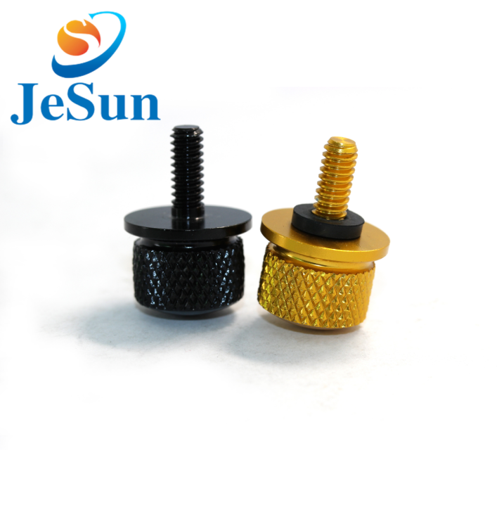 Customized flat head knurled head thumb screw in Singapore