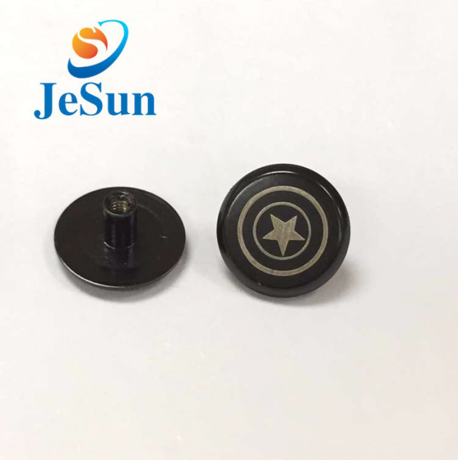 Made in china aluminum male and female screw with logo in Macedonia