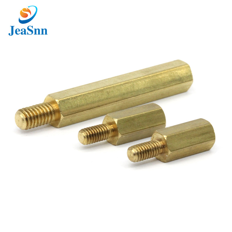 Male male metal hex spacer hardware copper brass standoff