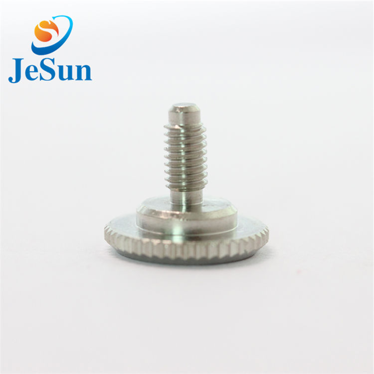 OEM various slotted knurled thumb screw in Swiss