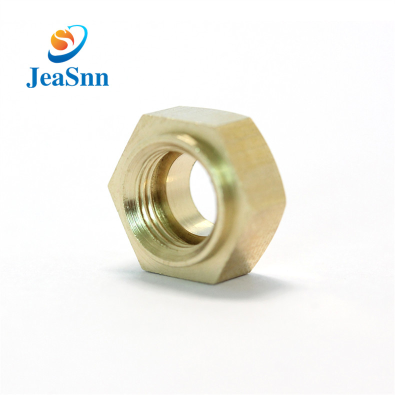 Precision Brass Decorative Nut Hex Brass Nut With Hole