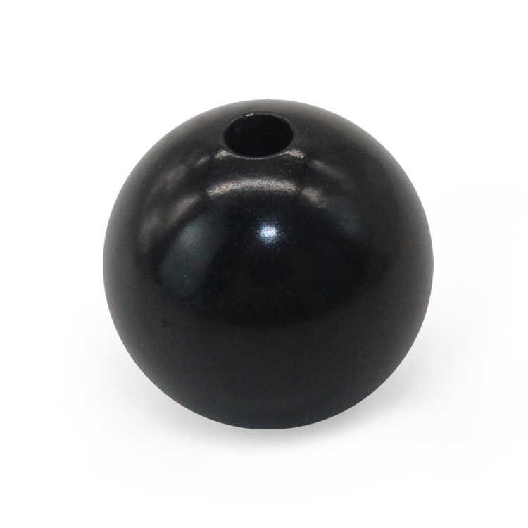 Round bead ball black necklace solid aluminum oxide balls with 3mm hole