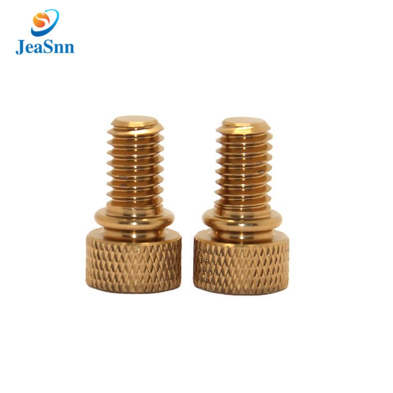 Round colored knurled knob anodized aluminum thumb screw in USA