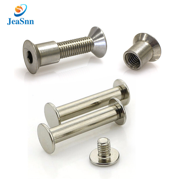 Sex bolt skateboard countersunk stainless steel binding post screw decorative chicago screws male and female screw fasteners