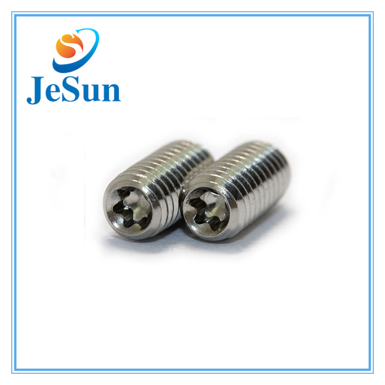 Stainless Steel Embossing Slotted Set Screws in Swiss