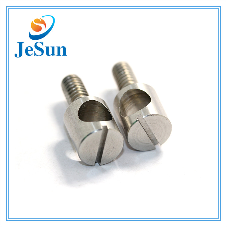 Stainless Steel Slotted Screw Slotted Machine Screw with Hole in Swiss