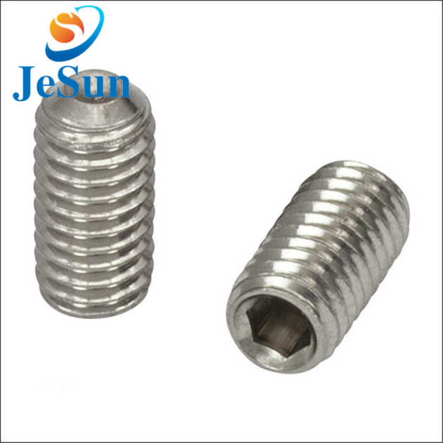 Stainless stiel beker punt set screw