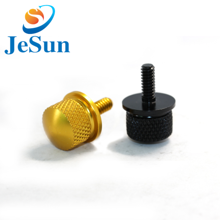 Customized flat head knurled head thumb screw for sale