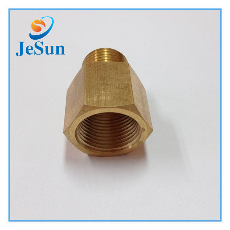 custom auto lathe parts brass wheel coupling hexagon insert nut for sale