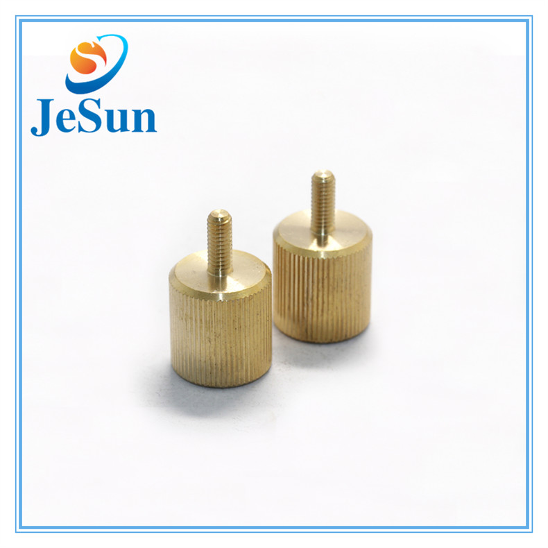 Fastener Manufacturer Mould-in Straight Knurling Brass Screws for sale