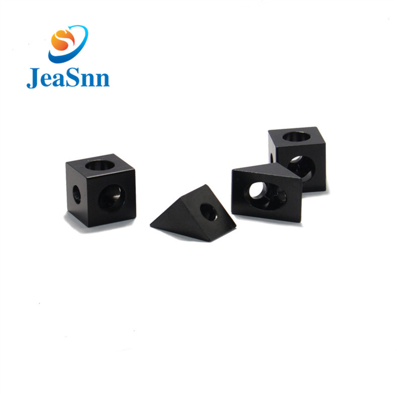 Black Anodized Aluminum CNC Spare Parts Corner Connector for 3d Printers for sale