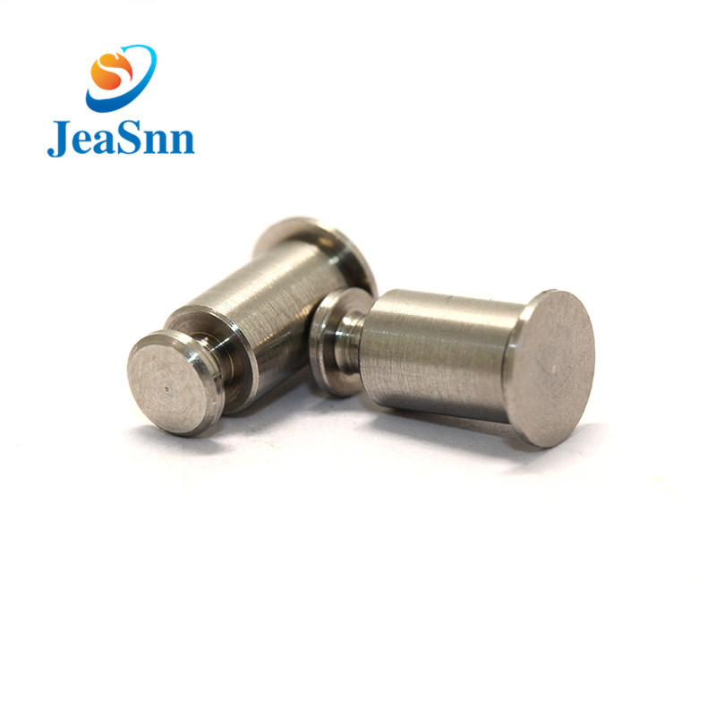 Nickel Plating Solid Steel Rivet Flat Head Solid Rivets Supplier for sale