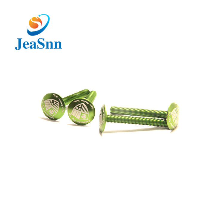 Colorful Anodized Screw Aluminum Anodized Green Bolt for sale