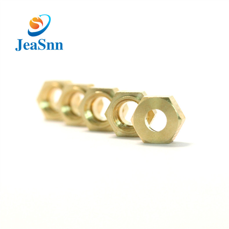 Precision Brass Decorative Nut Hex Brass Nut With Hole for sale