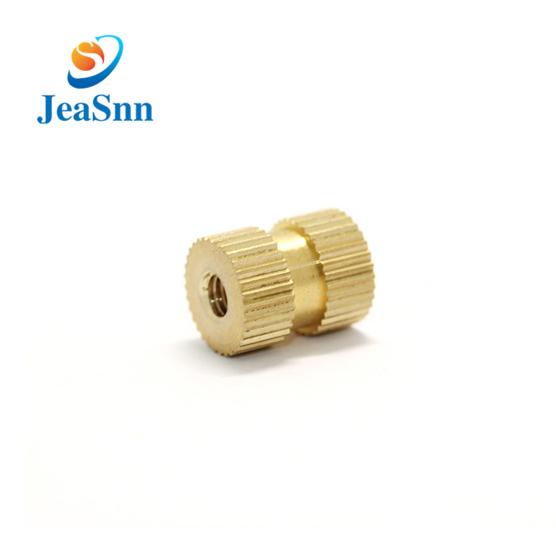 Injection molding brass insert nuts threaded brass knurled nut for sale