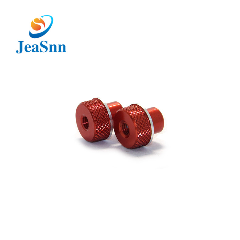 Knurled Knobs Thumb Anodized Aluminum Nuts for sale