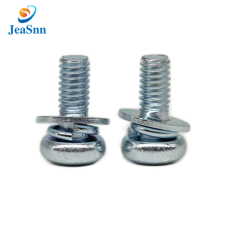 Environmental Blue Zinc Plating Csutom Pan Head Screw Bolt for sale