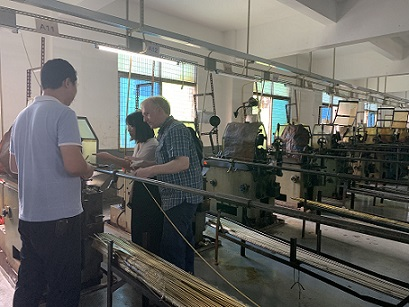 UK customers visit our factory Jiesheng hardware(Jeasnn) in this week.