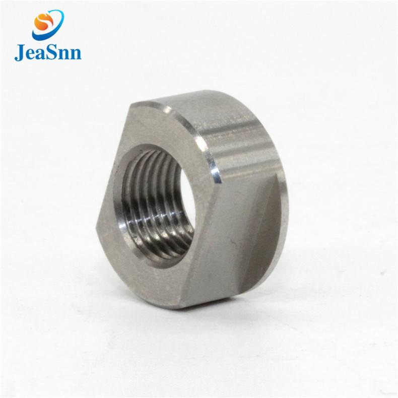Turned stainless steel SUS303 custom nuts for CNC router for sale