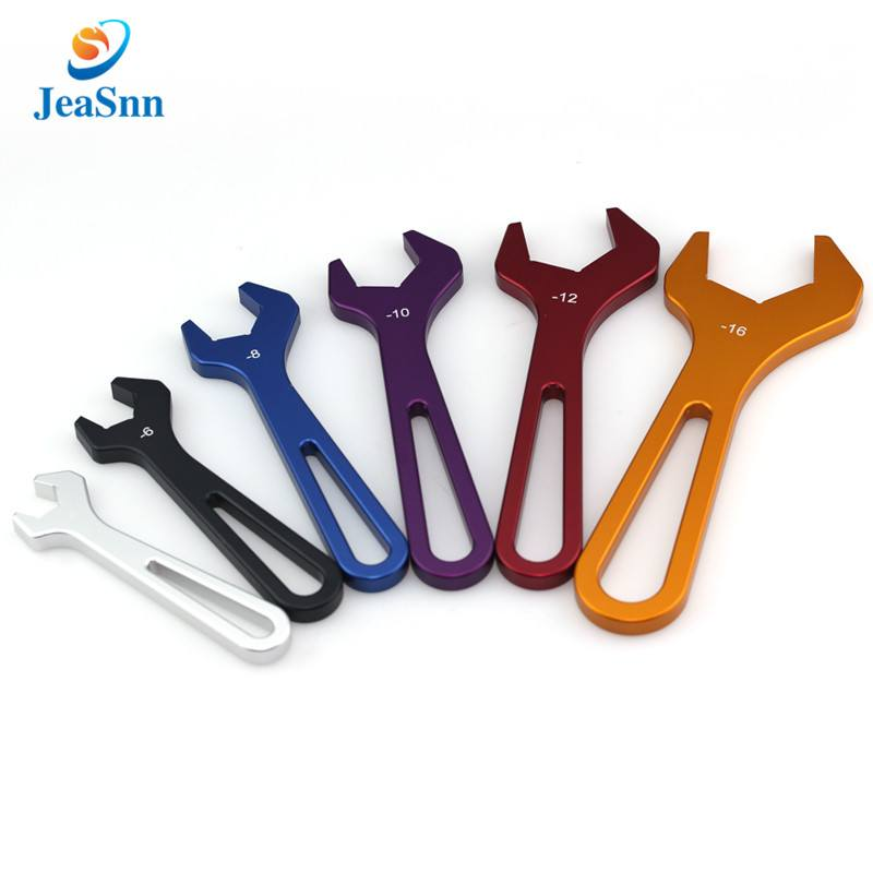 High quality multi color anodizing 6 Piece aluminum AN wrench set double open end AN anodized aluminum wrench for sale