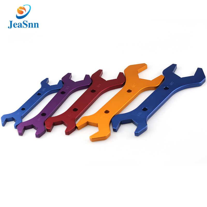 China manufacturer custom double open ended adjustable wrench AN3-AN20 spanner set hose fitting wrench aluminum AN wrench for sale