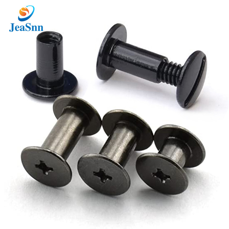Metric sex bolt copper binding post head screw male to female brass chicago screws for leather for sale