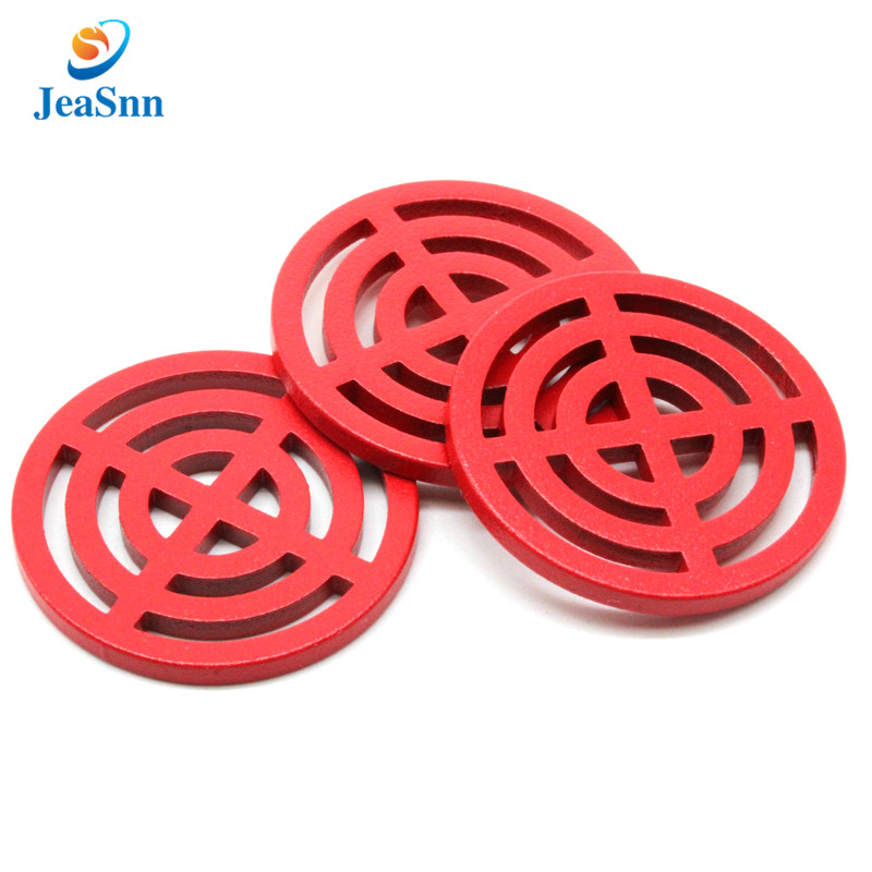 Custom logo flat anodized aluminum washer with anodizing gold red color for sale