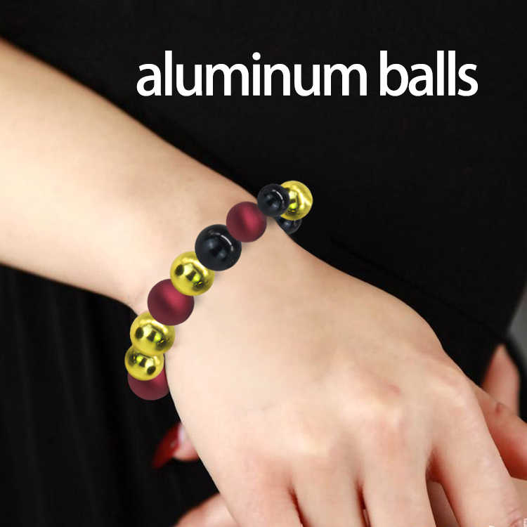 Custom fashion neck round beads modern 10mm-15mm anodized aluminum bead for sale