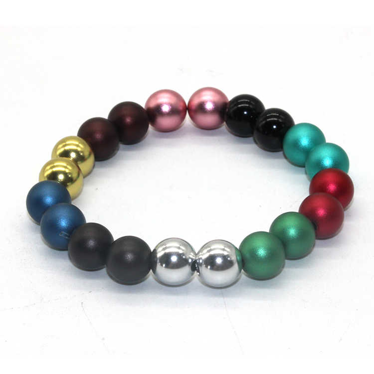 Aluminum bright round balls beads gold ball metal beads with anodizing for sale