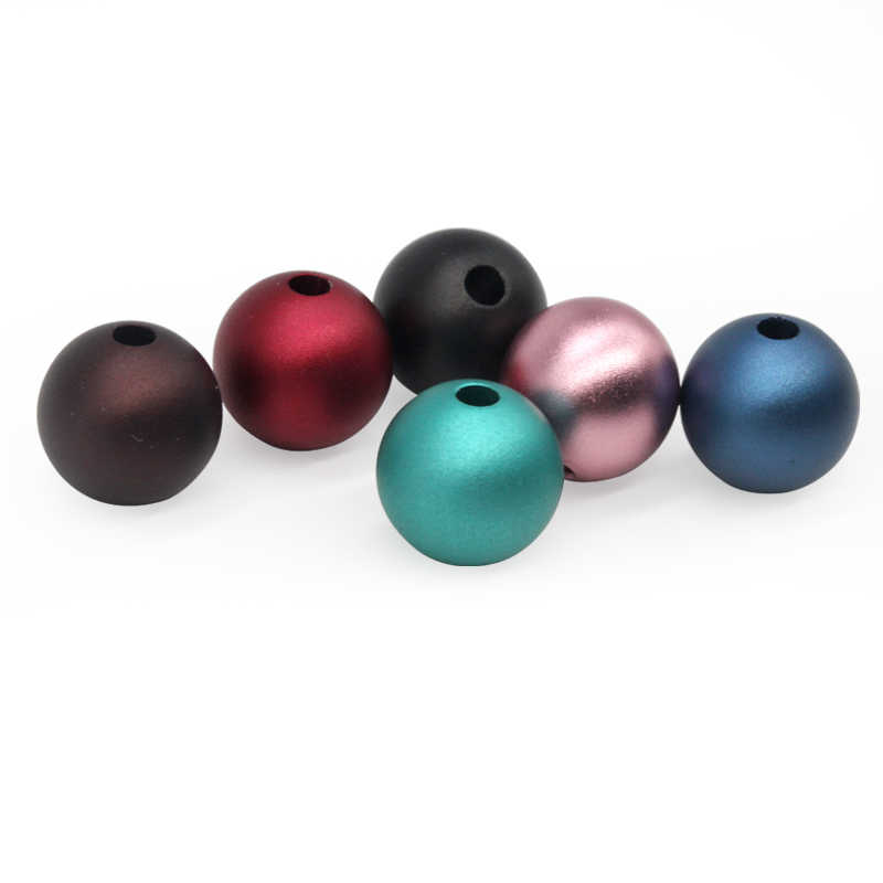 Round bead ball black necklace solid aluminum oxide balls with 3mm hole for sale
